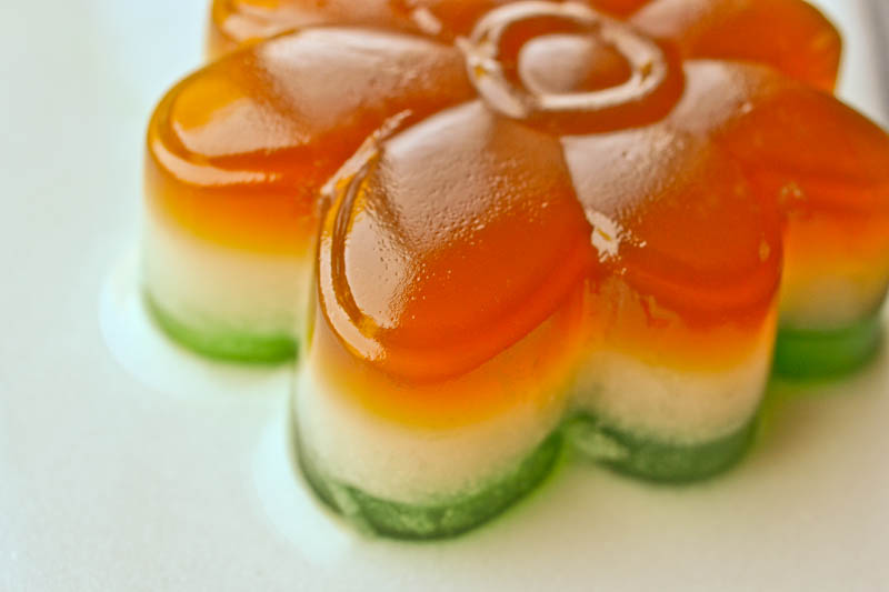 coffee coconut milk and panda flavored agar agar flower mold from ...