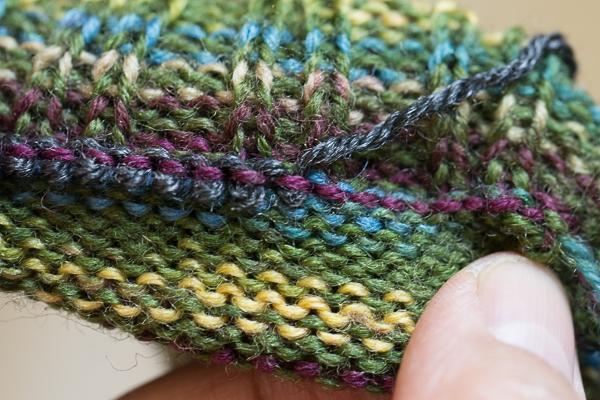 Removing waste yarn.