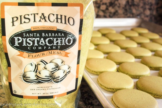 Macarons from 100% pistachio flour. Heavenly!