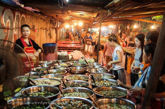 Night food market in Luang Prabang.