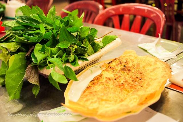 Banh xeo or Vietnamese crispy cake.